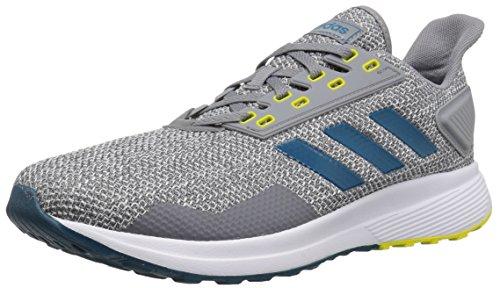 adidas Men's Duramo 9 Running Shoe, Grey/Real Teal/White, 10 M US ()