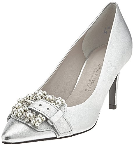 Kennel und Schmenger Schuhmanufaktur Women's Liz Closed Toe Heels Silber (Silver/Crystal) L5JGvXf