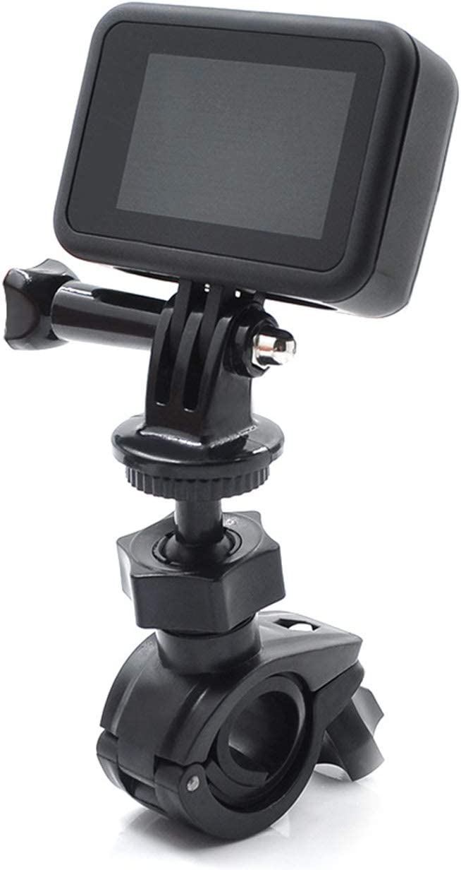 Oriolus Bike Bracket Bicycle Camera Mount Holder for Bluetooth Speakers Action Cameras Compatible with DJI Osmo Pocket Osmo Action Insta360 ONE X 360 GoPro HERO8 Camera Black
