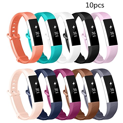 Tesco Newest 10 Colors Fitbit Alta Bands And Alta Hr Bands  Adjustable Replacement Wristband With Secure Fashion Sports Silicone Personalized Replacement Bracelet With  Small