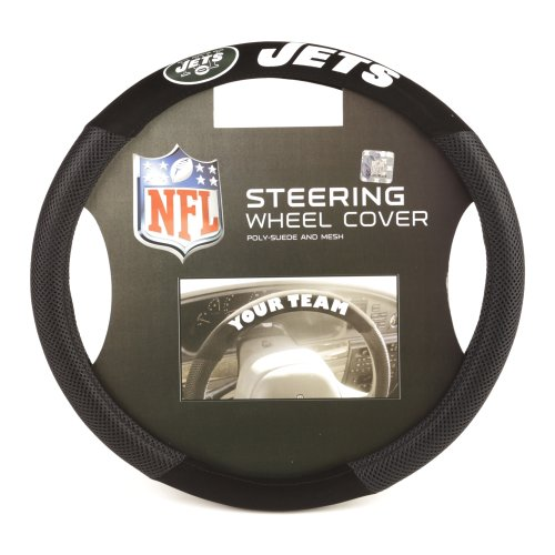 (Fremont Die NFL New York Jets Poly-Suede Steering Wheel Cover)