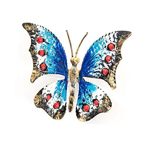 Farfalla media in ferro battuto colore Blu Da poggiare o appendere MADE IN ITALY arterameferro