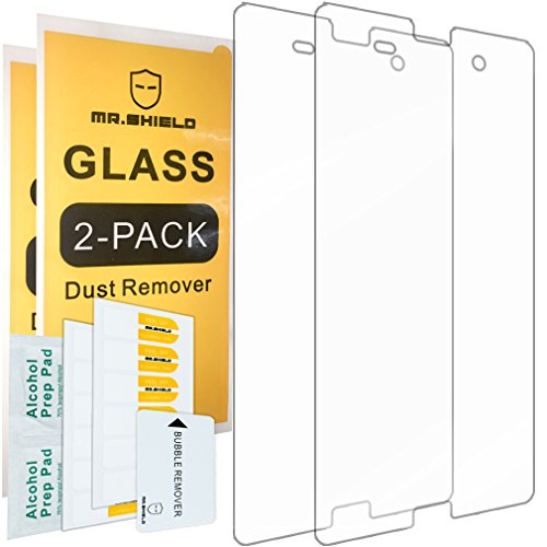 [2-PACK]-Mr Shield For Sony Xperia Z3 Compact [Tempered Glass] Screen Protector with Lifetime Replacement Warranty (Sony Z3 Replacements Edges compare prices)