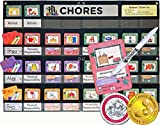 "NEATLINGS Chore System - Chore Chart for Kids | 80+ Chores for Toddlers to Teens | Customize for 1-3 Kids | Size 25""x18"" 