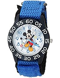 Boy's 'Mickey Mouse' Quartz Plastic and Nylon Casual Watch, Color:Blue (Model: WDS000519)