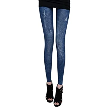 1 PC Omiky® Femme Lycra Skinny imitation Jeans Caleçon 3b2c0c773d3
