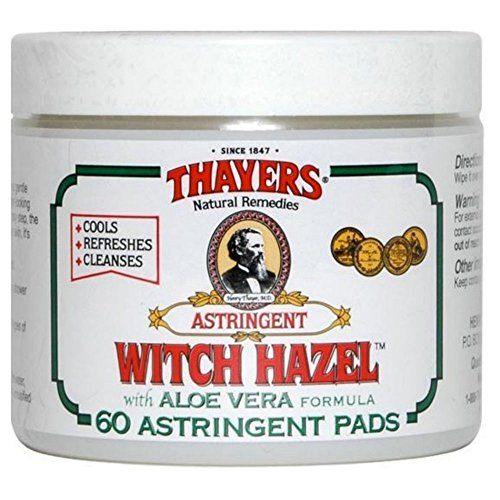- Thayers Original Witch Hazel Astringent Pads with Aloe Vera Formula, 60 Count