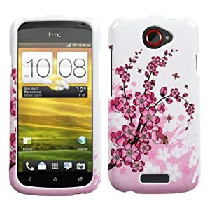 IMAGITOUCH(TM) HTC One S Spring Flowers Phone Hard Case Protector Faceplate Cover 3-Item Combo (Stylus Pen, Pry Tool, Phone Cover)