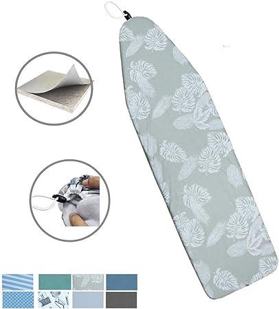 DOWE 137 cm x 38 cm Resistencia al Calor Cubierta met/álica de la Tabla de Planchar Material de Fieltro Duradero Tama/ño est/ándar Opciones multicoloras