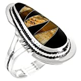 Tiger Eye Ring Sterling Silver 925 Genuine Gemstones Sizes 6 to 11