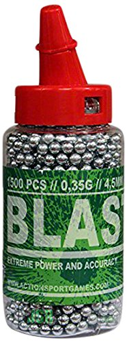 ASG Blaster Steel BBs, .177 Cal, 5.4 grains, Speedloader Bottle, 1500ct
