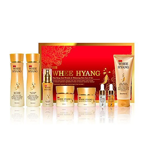 Deoproce, Whee Hyang Anti-wrinkle & whitening Skin Care 8 SET, The medicinal skin Science problem of Aging, Whitening Anti-wrinkle Multi Function. - Deo Essence Whitening