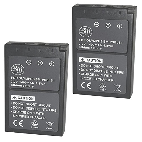 BM Premium 2-Pack of BLS-1 BLS-5 Batteries for Olympus E-P3, E-PM1, E-PL1, E-PL2, E-PL3, E-PL5, E-PL7, OM-D, E-M10, Stylus 1 Digital Camera