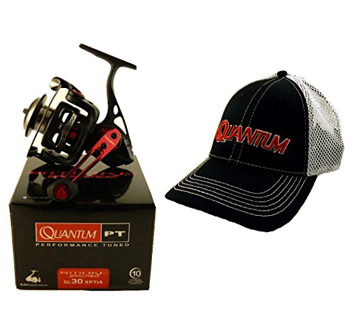 Bundle – Quantum Smoke Speed Freak SL30XPTIA 6.2:1 Spinning Fishing Reel + Hat For Sale