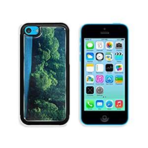 Blue Lake View With Green Forest Mountains Landscapes Nature Paradise Punktail's Collections Apple iPhone 5c Cover Premium Aluminum Design TPU Case Open Ports Customized Made to Order