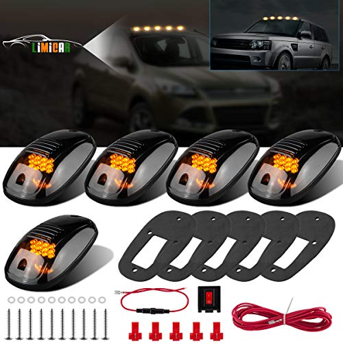 - LIMICAR 5X Amber Cab Roof Marker Top Running 12LED Cab Lights Compatible w/ 03-10 Dodge Ram 1500 2500 3500 4500 11-16 Ram 1500 2500 3500 4500 5500 Pickup Trucks w/Stock Cab Marker Lights
