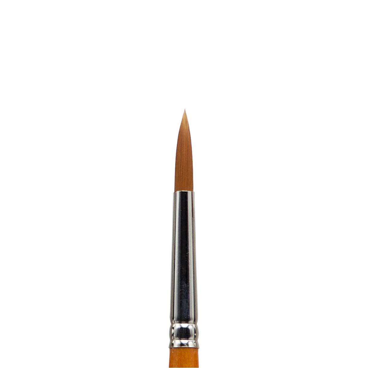 KINGART 6000-0 Premium Artist Brushes Radiant AP TAKLON Round Black//Silver//Orange