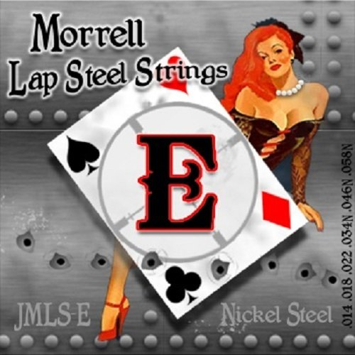 Morrell JMLS-E Premium 6-String Lap Steel Guitar Strings for E-Tuning 14-58 (3-Pack) by Morrell