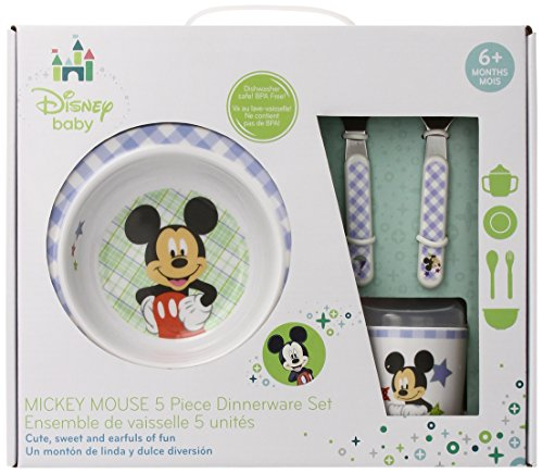 Disney Baby Mickey Mouse 5 Piece Melmine Dinnerware Set
