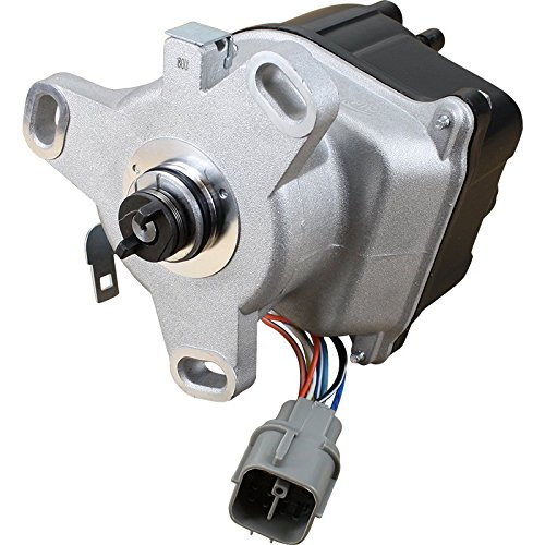 AIP Electronics Complete Premium Electronic Ignition Distributor Compatible Replacement For 1996-1998 Honda Civic Del Sol Hx Si Acura EL 1.6L VTEC With Tec Distributor TD80-U OBD2A/B Oem Fit DTD80
