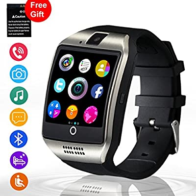 Bluetooth Smart Watch with Camera, Unlocked Cell Phone Watch SIM Card Slot Touch Screen Smartwatch Wristwatch for Android Samsung iOS iPhone 7 8 Plus Kids Women Men