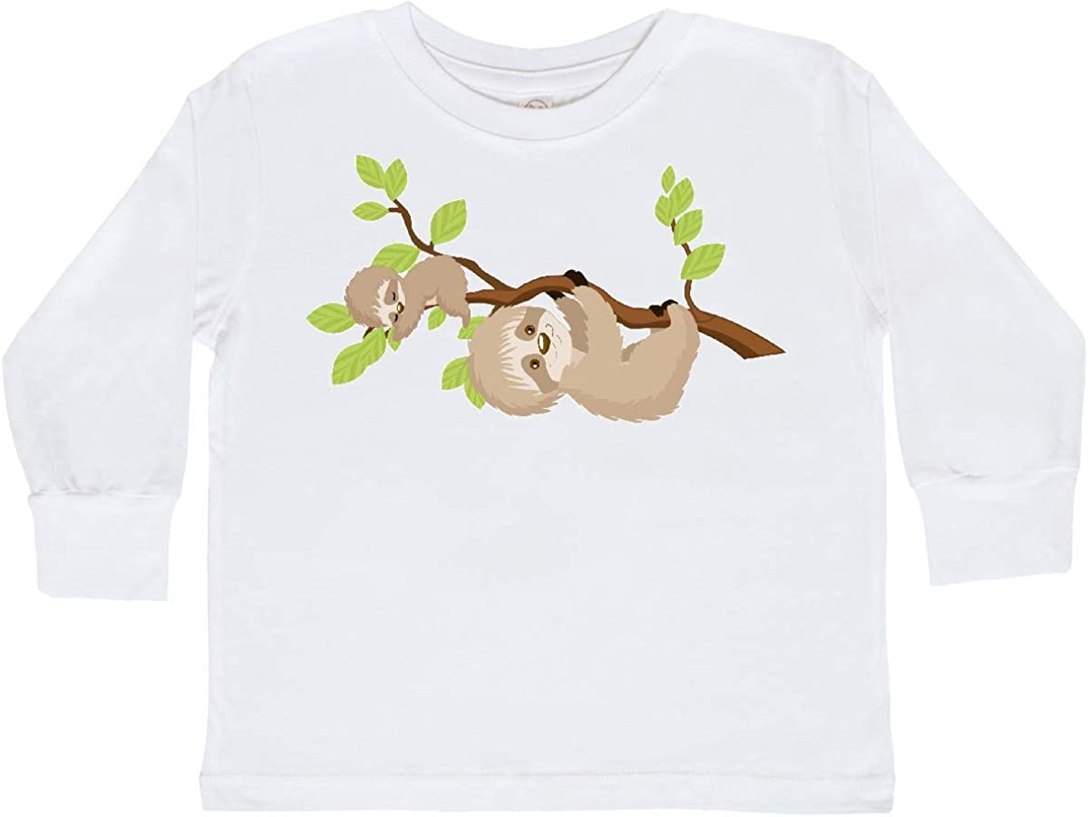 inktastic Sloths on Tree Branch Toddler Long Sleeve T-Shirt