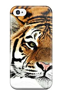 Awesome Tiger Hd 1080p Flip Case With Fashion Design For Iphone 4/4s