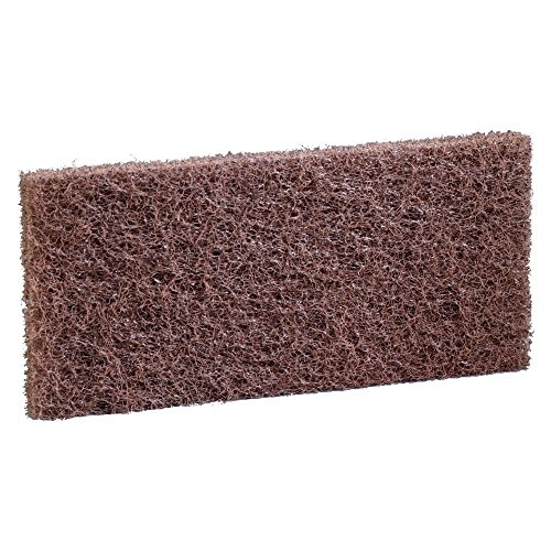 3M Brown Plastic Coarse Pads For Heavy-Duty Cleaning For Doodlebug Pad Holder - 10