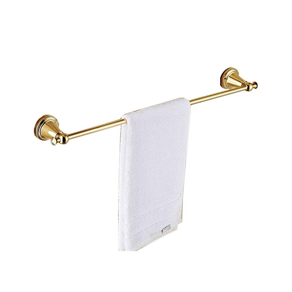Luxury Gold Polished Bathroom Single Towel Bar Wall Mount Towel Rack
