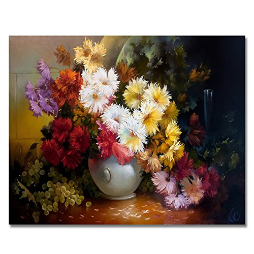 Rihe Floral DIY Oil Painting Paint By Number Kit-Elegant Flower 1620 Inch (Frameless)