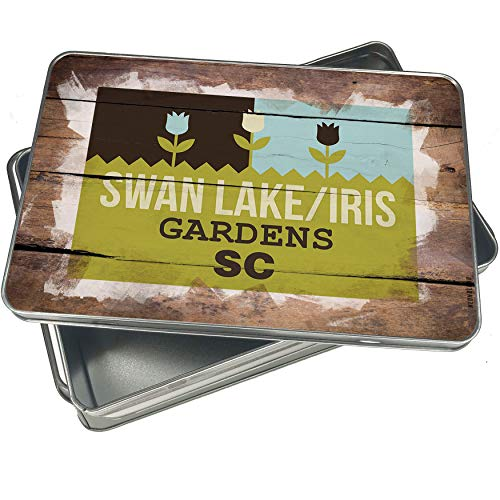 NEONBLOND Cookie Box US Gardens Swan Lake/Iris Gardens - SC Christmas Metal (Iris Metal Garden)