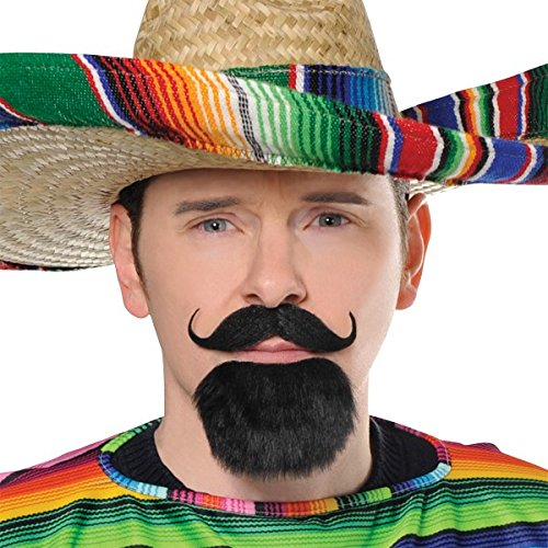 Wacky Fiesta Moustache and Goatee Facial hair Costume Accessory, Self Adhesive, 2 piece ()