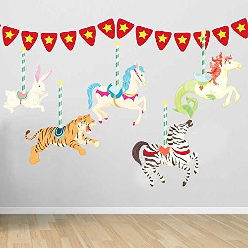 Carousel Wall Decal Set By Chromantics