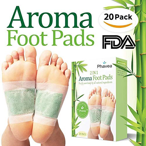 Upgraded 2 In 1 Foot Pads, Best Nature Foot Pads, Rapid Foot Care and Pain Relief, Higher Efficiency Than Foot Cushions, Sleeve Metatarsal Pads - Best Foot pads for 2018, 20 Packs by Phavea