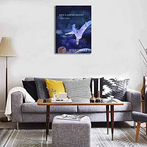 Dinosaur Room Decor for Boys Framed Outer Space Decorations Painting for Kids Bedroom Galaxy Themed Nursery Prints Wall Art in 3 Pieces Watercolor Picture Poster Toddler Canvas Wall Decals 12x16 Inch