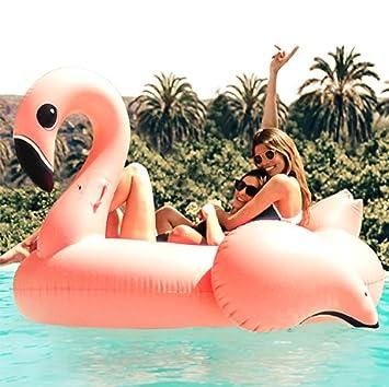 Flamingueo - Flotador Gigante de Flamenco Bob: Amazon.es: Juguetes y juegos
