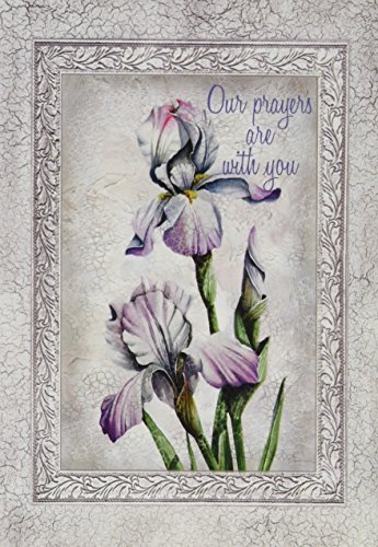 Flowers Sympathy Card (Divinity Boutique Greeting Card Assortment: Sympathy, Flowers with Gray Border)