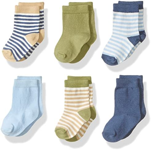 Touched via Nature Unisex Baby Organic Cotton Socks