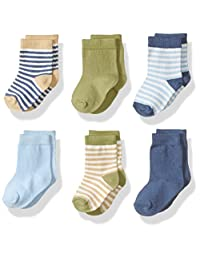 Touched by Nature unisex-baby Baby Organic 6 Pack Cotton Socks