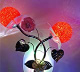 Roses Light Night Light Children's Room Energy-Saving Light Control Bedside Lamp Wall Lamp Gift High-End Air Grade Grade Wall Lamp