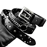 Rock Hip Hop Genuine Leather Belt Waistband For Party & Cosplay