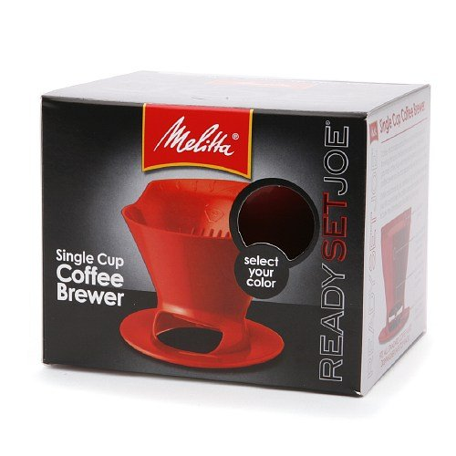 Melitta 64008 2 Pack Single Cup Coffee Brewers, Red by Melitta