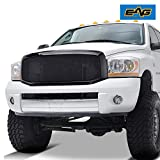 dodge ram 1500 black mesh grill - E-Autogrilles Black Stainless Steel Wire Mesh Grille Grill With ABS Shell for 06-09 Dodge Ram 1500/2500/3500(44-0812)