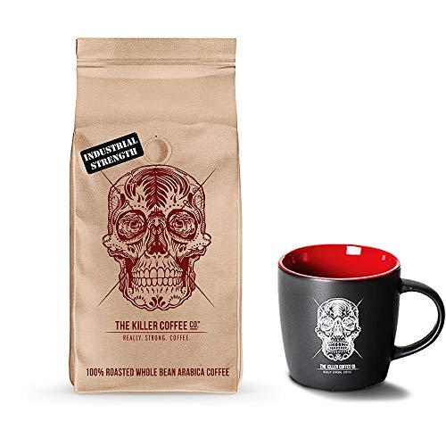 Killer Coffee Beans + Black Killer Mug - 16 Oz Great ()