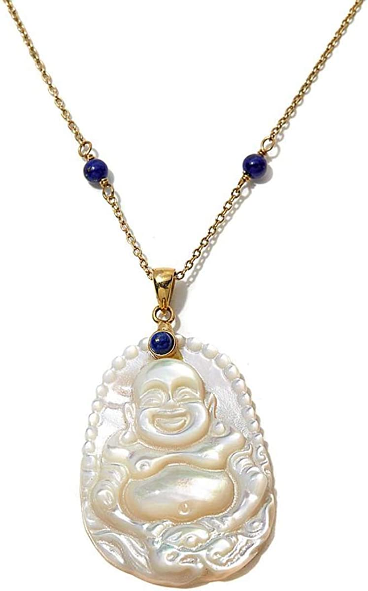 Mother of Pearl Pendant copper,Lapis Silver
