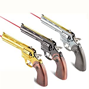 Colt python 357 revolver Can play rubber band Infrared function All metal CF weapon weapon model Halloween ,birthday Gifts For Children Kids Collection(golden+sliver)