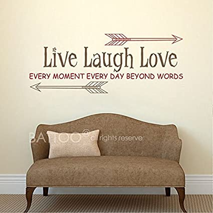 Amazon.com: Live Laugh Love Wall Decal - Inspirational Wall ...