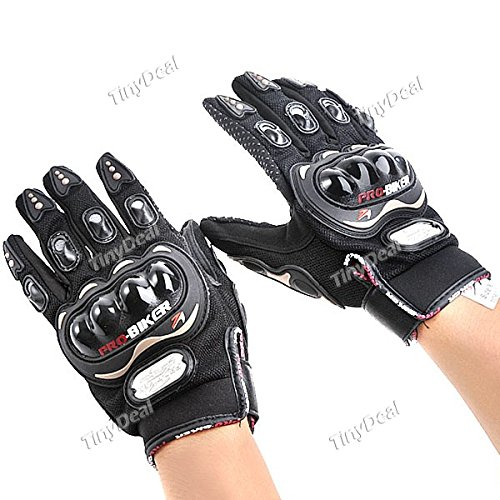 Tiny Deal TDL20074 Pro-Biker Anti-Slip Full Finger Motorcycle Racing Warm Gloves Xl - Size - Black Rmp-235630