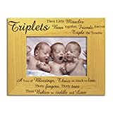 Triplets Photo Frame, Stunning Solid Wood, Triplets Frame, Newborn Triplets Frame, New Baby Triplets, Triplets Gift, Triplets Present, by The Engraving Gallery