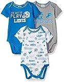 NFL Detroit Lions Unisex-Baby 3-Pack Short Sleeve